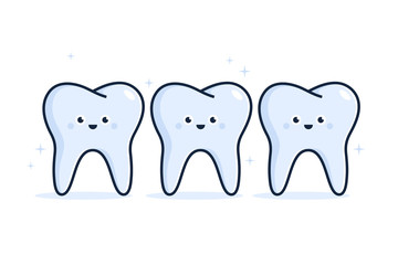 Illustration of Healthy teeth.