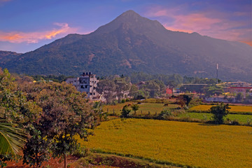 The holy mountain Arunachala, the oldest mountain in the world in Tamil Nadu India