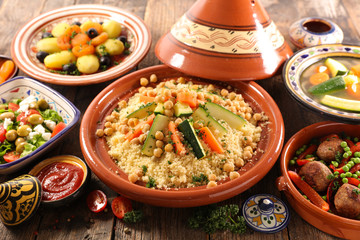 Wall Mural - arabic food assortment