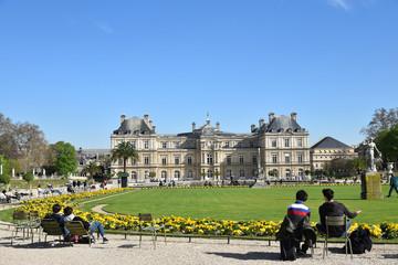 Jour de printemps au jardin du Luxembourg à Paris, France