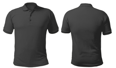 Black Collared Shirt Design Template