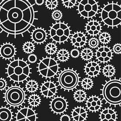 gears pattern on black background