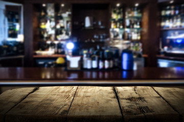 Table background of free space and bar