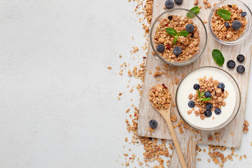 Recipe of healthy breakfast, mockup, copy space