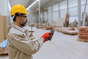Senior engineer in the factory