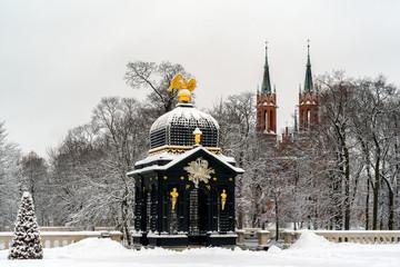 Zima w ogrodach Pałacu Branickich - Białystok