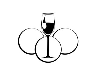 elegance wine symbol on the white background. vector