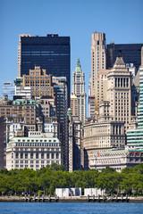 Manhattan historic and modern architecture, New York City USA.