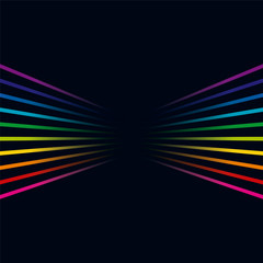 Multicolored lines. Colorful lines horizontal background Illustration