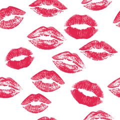 Seamless Tiling Kiss mark vector