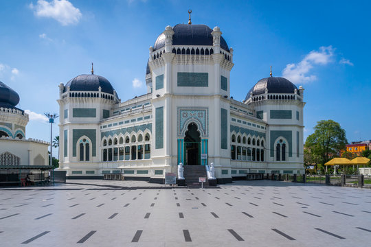 Great Mosque of Medan or Masjid Raya Al Mashun is a mosque located in Medan, Indonesia. The mosque was built in the year 1906 and one of the largest in Medan.
