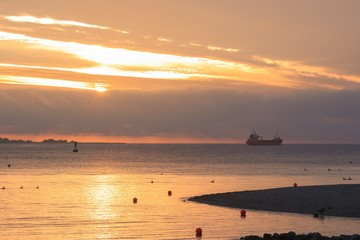 tanker by the Baltic sea
