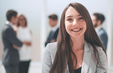 successful businesswoman on the background of the office