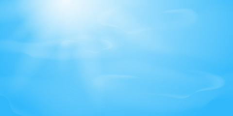 Blue sky with clouds and sunlight. Spring, summer background. Nature sunny background .