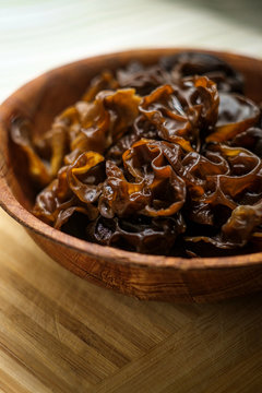 Cooked Wood Ear Mushrooms
