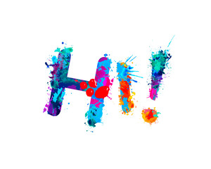 Hi. Inscription of splash paint letters