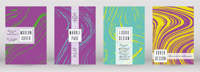 Modern Marble Cover Design for your Business with Abstract Lines. Futuristic Poster, Flyer, Layout with Liquid Pattern for Branding, Identity, Annual Report. Vector minimalistic brochure. Luxury.
