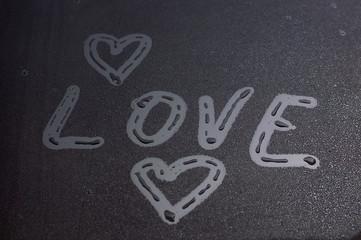 Obraz Napis LOVE - fototapety do salonu