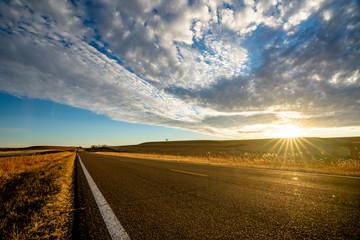 Spoed Fotobehang Grijs Highway 177