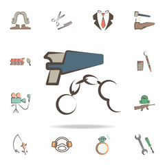 policeman tools icon. Detailed set of tools of various profession icons. Premium graphic design. One of the collection icons for websites, web design, mobile app