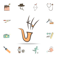 musician tools icon. Detailed set of tools of various profession icons. Premium graphic design. One of the collection icons for websites, web design, mobile app