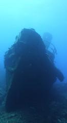 Schiffswrack vor der Küste der Seychellen