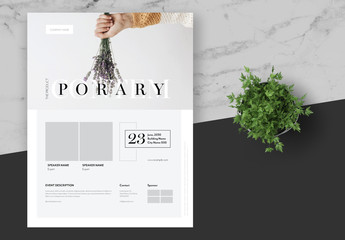 Event Flyer Layout with Gray Accents