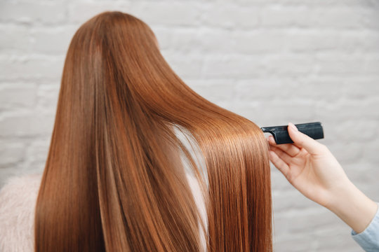 Sick, cut and healthy hair after treatment