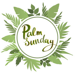 Palm Sunday lettering card. quote to design greeting card, poster, banner, printable wall art, t-shirt and other, vector illustration