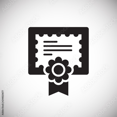 Diploma icon on white background for graphic and web design