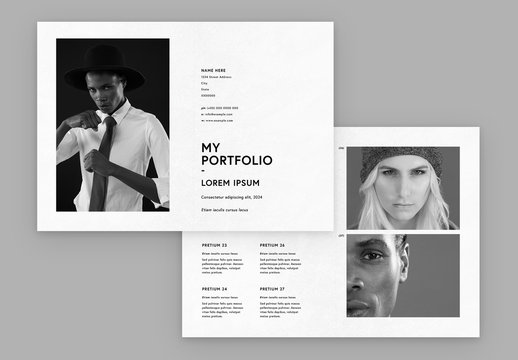 Portfolio Layout with Photo Placeholders