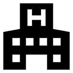 Hospital Building Vector Icon.eps