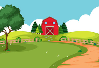 An outdoor farm landscape