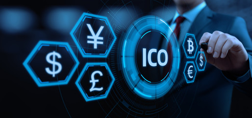 ICO Initial Coin Offering Business Internet Technology Concept
