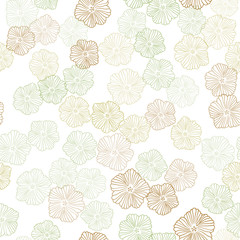 Light Blue, Green vector seamless natural backdrop with flowers.