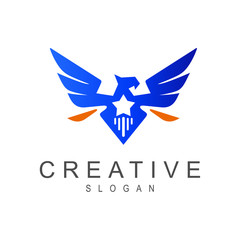 eagle with star logo template