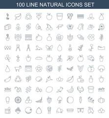 100 natural icons