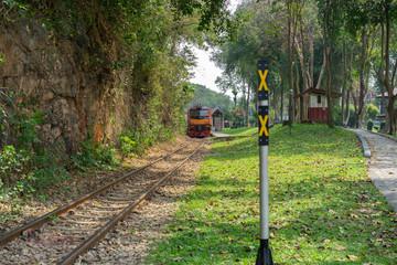 Death Railway danger create period World war two Sai Yok, Kanchanaburi Near Bangkok Thailand