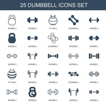 dumbbell icons