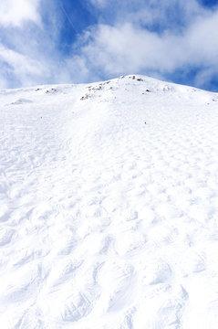 Mogul Ski Slope at Lake Louise in the Canadian Rockies
