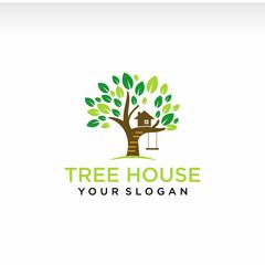 illustration logo for tree house