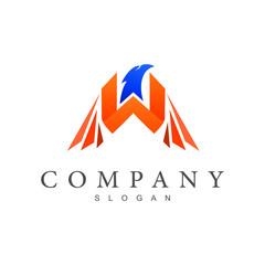 eagle letter w logo template
