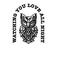 Owl with diamond heart