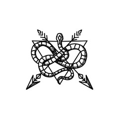Snake With Arrow and Triangle