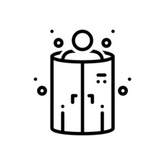 Black line icon for cryotherapy