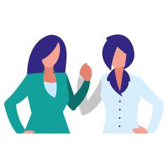 couple of girls avatars characters