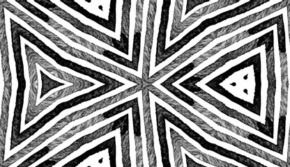 Dark black and white Geometric Watercolor. Decent