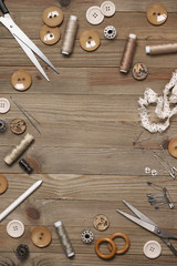 Set of sewing tools and accessories