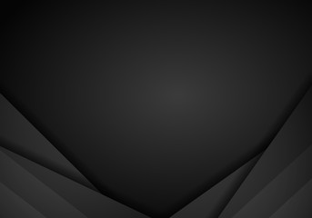 abstract metallic black frame layout modern tech design template background
