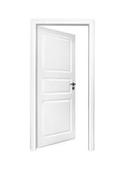 Weiße geöffnete Tür
